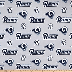 NFL Fleece L.A. Rams Navy Fabric