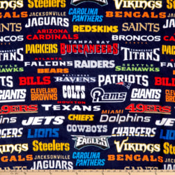NFL Fleece Allover Teams Multi Fabric