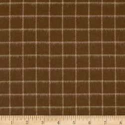 Chalk & Timber Brushed Yarn Dye Windowpane Plaid