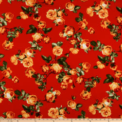 Liverpool Double Knit English Roses Peach/Red