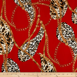 Liverpool Double Knit Gold Safari Red/Taupe Fabric