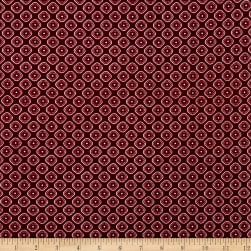 Liverpool Double Knit Medallion Burgundy Fabric