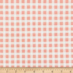 Liverpool Double Knit Gingham Rose Fabric