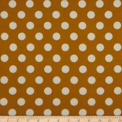 Techno Scuba Knit Medium Polka Dot Mustard/Ivory