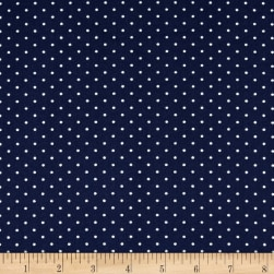 Techno Scuba Knit Small Polka Dot Navy Fabric