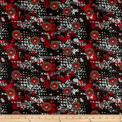 Military Marines Abstract Geometric Allover Multi Fabric