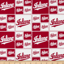 NCAA Indiana Hoosiers Broadcloth Box All Over Red/White