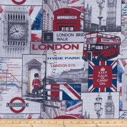 ArtCo Prints Canvas British Beige/Red Fabric
