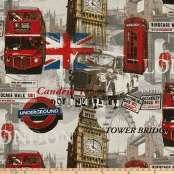 ArtCo Prints Canvas London Bus Multi Fabric