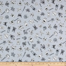 ArtCo Prints Monsters Black & White Fabric