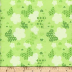 Flannel Melody Butterfly Green
