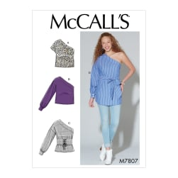 McCall's M7807 Misses' Tops, Tunic and Belt (One