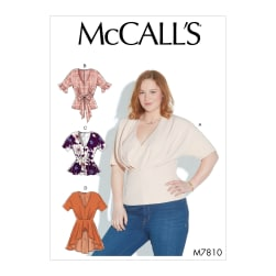 McCall's M7810 Misses' Tops E5 (Sizes 14-22)