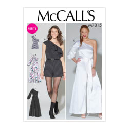McCall's M7815 Misses'/Miss Petite Romper, Jumpsuit and Belt