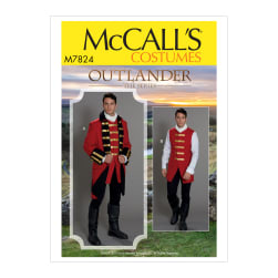McCall's M7824 Outlander Mens' Costume MWW (Sizes 38-44)