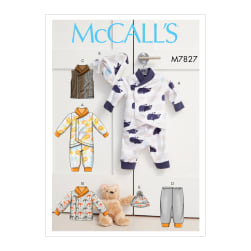 McCall's M7827 Baby Sportswear Pattern A5 (Sizes 6-14)