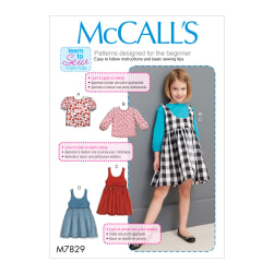 McCall's M7829 Children's/Girls' Sportware Pattern CL (Sizes