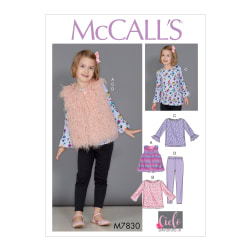 McCall's M7830 Children's/Girls' Sportwear Pattern CDD (Sizes
