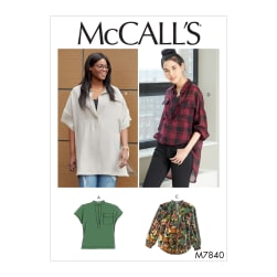 McCall's M7840 Misses / Plus Sz Top Pattern