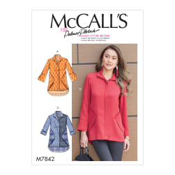 McCall's M7842 Misses Top/Vest Pattern F5 (Sizes 16-24)