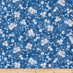 Whistler Studios Gina Packed Floral Denim Fabric