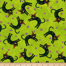 Susan Winget Halloween Cats With Hats Eco Canvas
