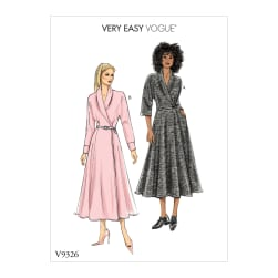 Vogue V9326 Misses' Dress Pattern A5 (Sizes 6-14)