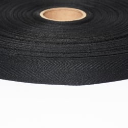 ABBEYSHEA 3/4'' Polyester Twill Tape 50yd Black