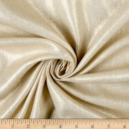 Shirting Weight Linen Oatmeal/Gold Metallic Fabric