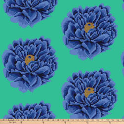 Kaffe Fassett 108'' Quilt Backs Full Bloom Blue Fabric