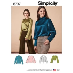 Simplicity 8737 Misses' Blouses R5 (Sizes 14-22)