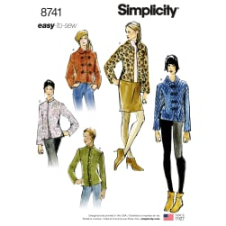 Simplicity 8741 Misses' Lined Short Jackets A (XS-S-M-L-XL)