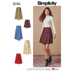 Simplicity 8746 Misses' Wrap Skirts R5 (Sizes 14-22)