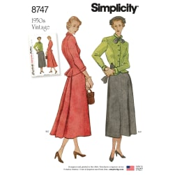 Simplicity 8747 Misses' Vintage Suit H5 (Sizes 6-14)