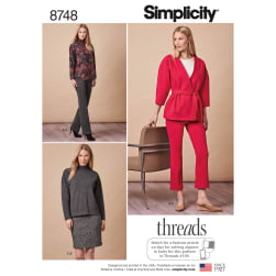 Simplicity 8748 Misses'/Miss Petite Sportswear H5 (Sizes 6-14)