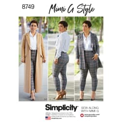 Simplicity 8749 Misses'/Women's Mimi G Style Coat and