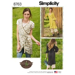 Simplicity 8763 Misses' Apron Dress H5 (Sizes 6-14)