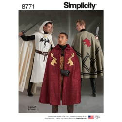 Simplicity 8771 Unisex Capes OS (One Size)