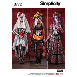 Simplicity 8772 Misses' Costumes H5 (Sizes 6-14)