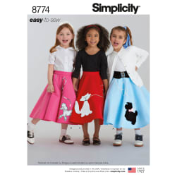 Simplicity 8774 Children's and Girls' Costumes (Sizes 3-4-5-6)