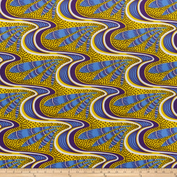 Shawn Pahwa Kente African Print ITY Kwazulu Yellow/Blue