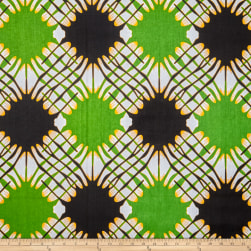 Shawn Pahwa African Print Sinoxolo Green/Black Fabric