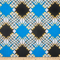 Shawn Pahwa African Print Sinoxolo Blue/Black Fabric