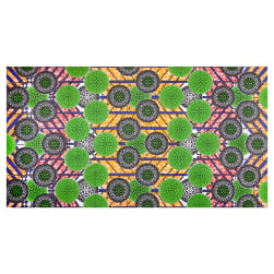 Shawn Pahwa African Print Kgabu Green/Black Fabric