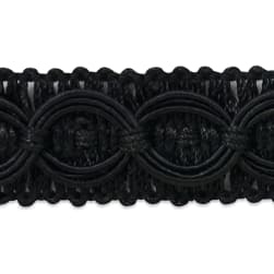 Collette Woven Braid Circle Trim Black