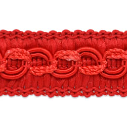 Sheena Woven Circle Braid Trim Red