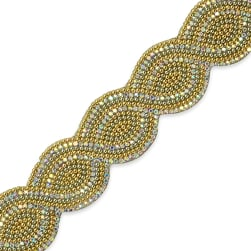 Nico 1 1/4'' Iron On Trim Gold