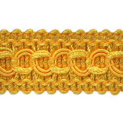 Sheena Woven Circle Braid Trim Yellow Gold