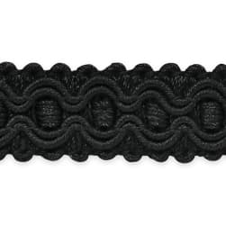 Gabrielle Decorative Braid Trim Black