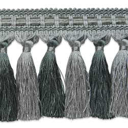 Talia Twisted Tassel Fringe Trim GRAY/SLATE